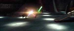 Anakin Skywalker Geonosis clash
