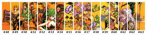 JoJo's Bizarre Adventure Part 5 Golden Wind Volume 48-63 Spine Art