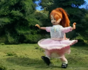 Little Girl Skipping