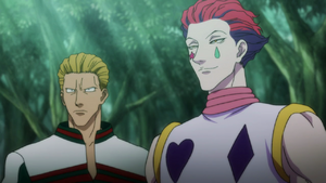 Phinks and Hisoka in Greed Island