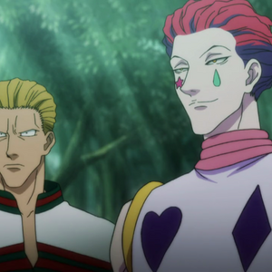 Phinks and Hisoka in Greed Island.png