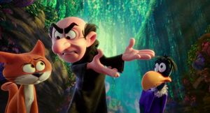 Gargamel mad at azrael