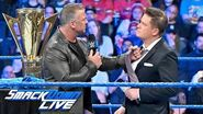 Shane McMahon gloats after defeating The Miz at WrestleMania SmackDown LIVE, April 9, 2019