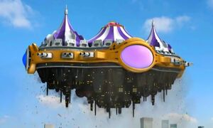 The Spaceship Flying Tent