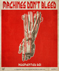 ARC machines dont bleed poster