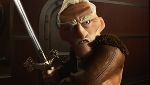 Charles Muntz using his Sword