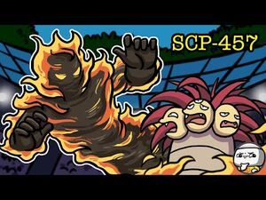 SCP-457 Burning Man (SCP Animation)