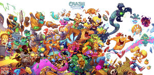 Cover of the art of Crash Bandicoot 4 It's About Time
