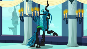 Queen Chrysalis about to sing S2E26