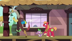 Spike tells Discord to wait