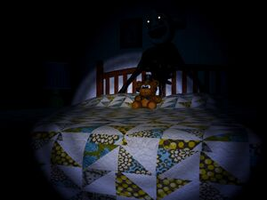 Nightmarionne Behind Bed