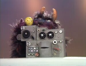 "The monster eating a machine in a ""Muppet Show"" episode."