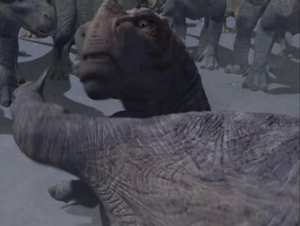 Kron about to scratch Aladar