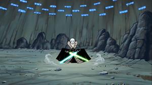 Asajj Jedi stance Rattatak