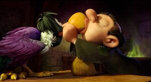 Gargamel kiss Monty