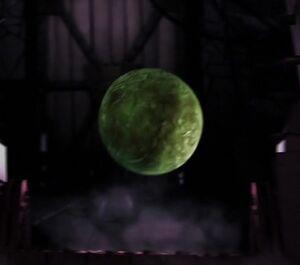 Green bouncy blob ball