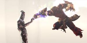 Chakravartin stops Asura's punch