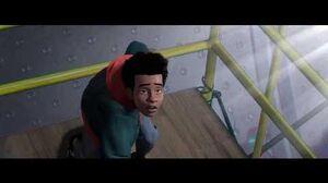 Miles Morales meets Spider-man Spider-Man Into the Spider-Verse (2018)