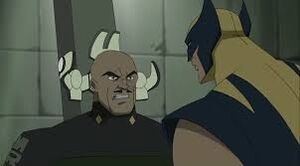 Wolverine facing the enemy