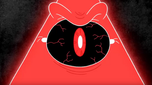 Bill Cipher Angry Close Up
