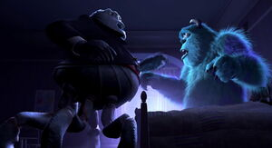 Mr. Waternoose confronting Sulley