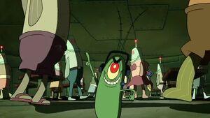 Plankton wearing hearphones