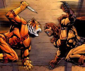 Bronze tiger vs Catman