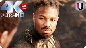 Black Panther - Killmonger Death Scene - Death Is Better Then Bondage - MOVIE CLIP (4K)