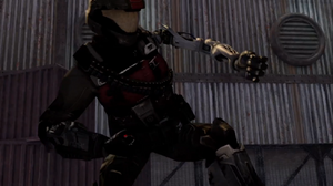 Robo Red Demo Man in battle