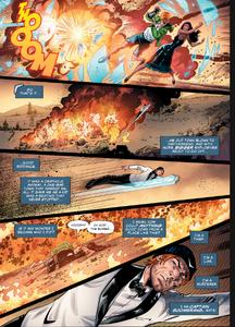 Boomrang goes back to save his son.