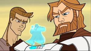 Skywalker Kenobi Barrek hologram