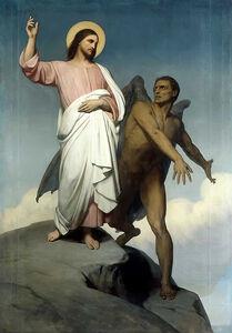 Ary Scheffer - The Temptation of Christ (1854)