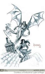 Brides of Dracula Bats drawing
