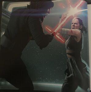 Rey and Kylo Hangar Bay fight art