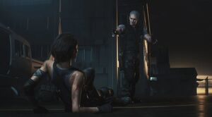 RE3make - Nikolai tosses Jill the vaccine