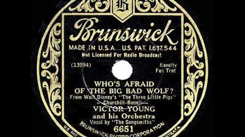 1933 HITS ARCHIVE Who's Afraid Of The Big Bad Wolf? - Victor Young (The Songsmiths, vocal)