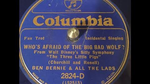 """""""Who's Afraid of the Big Bad Wolf?"""" Ben Bernie & All The Lads (1933)"""