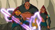 Dark chi warriors Finn, Ratso, and Chow