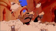 Razoul and The Guards run past those Sheep