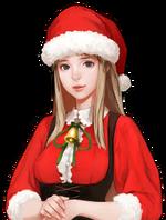 Tieve Christmas Smiling
