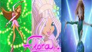Winx Club Flora All Full Transformations Up To Onyrix HD