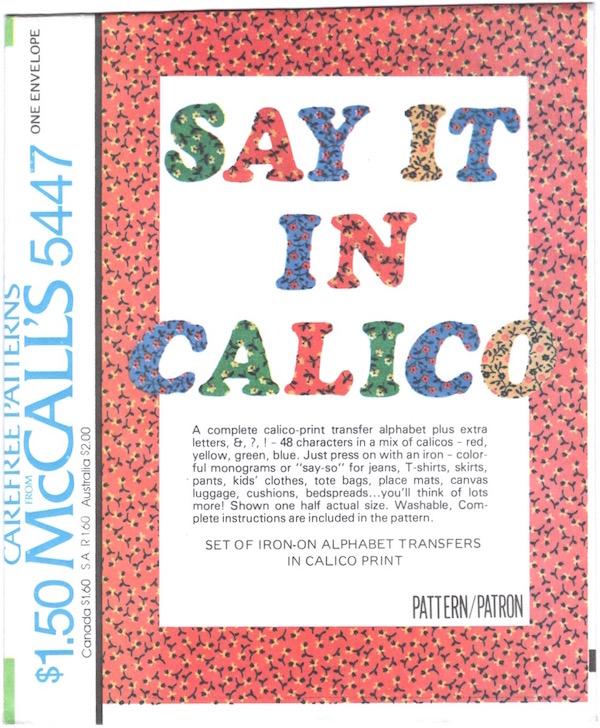 McCall's 5447 A