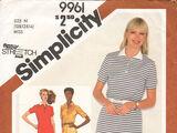 Simplicity 9961 A