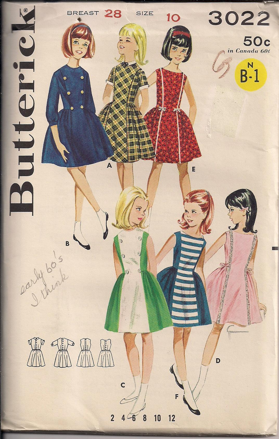Butterick 3022 A