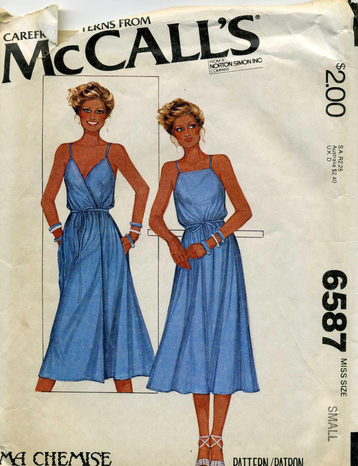 McCall's 6587 A