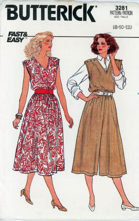 Butterick 3281 Misses' Dress and Jumpsuit