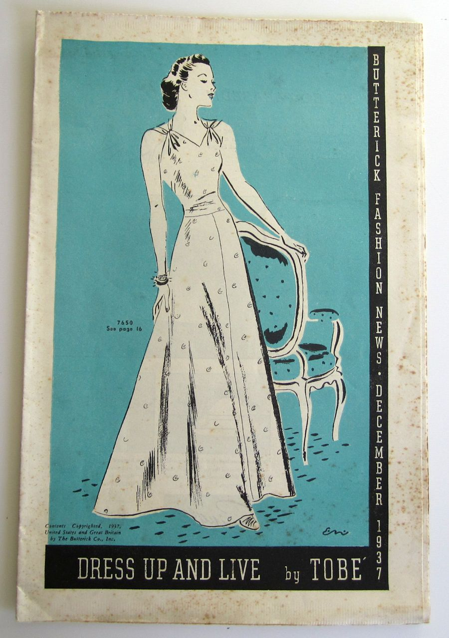 Butterick Fashion News December 1937