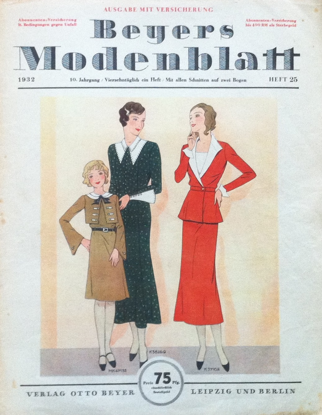 Beyers Modenblatt No. 25 Vol. 10 1932