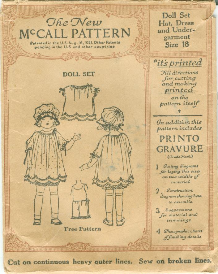 McCall Sample Doll B