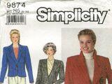 Simplicity 9874 A